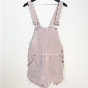 Free people pink overalls dress